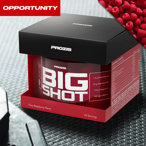 Big Shot - Pre-Workout 23 doses + 2 x Zero Shake RTD 250 ml Gratuit