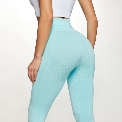 X-Skin Contour High Waist Leggings - Light Blue Melange