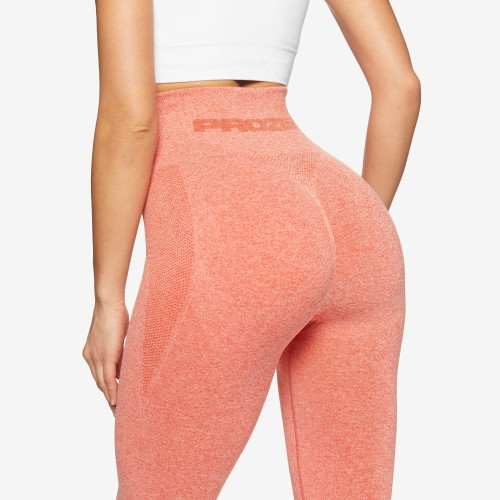 Leggings de Cintura Alta X-Skin Peach Perfect - Orange Melange