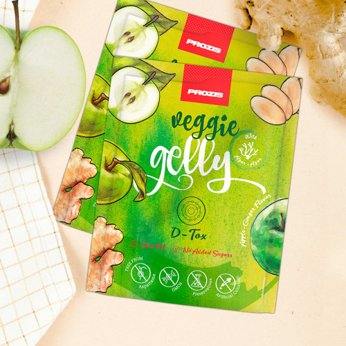 2 x Veggie Gelly - D-Tox 15 g Apple-Ginger