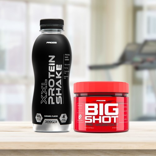Big Shot - Pre-Workout 23 dosis + XXL Protein Shake 500 ml Gratis