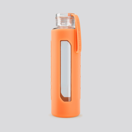 Brick Glass Bottle - Orange 550ml