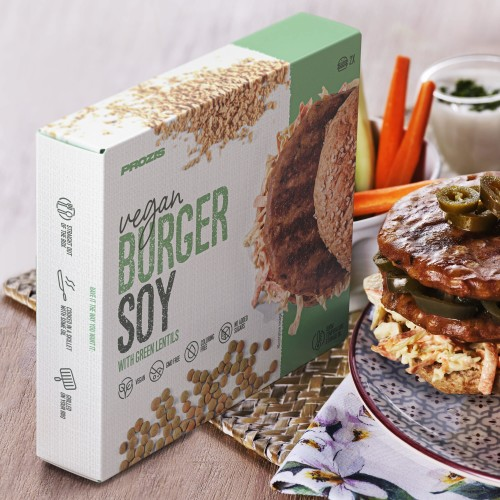 2 x Vegan Burger - Soy with Green Lentils 80 g