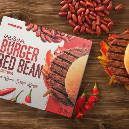 2 x Vegan Burger - Red Bean with Chili Pepper 80 g