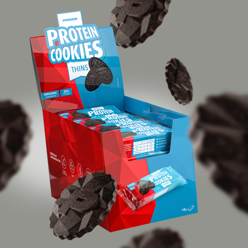 12 x Protein Cookies Thins 100 g