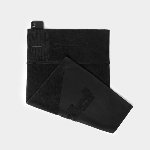 TwoFace Pocket Gym Towel - Black