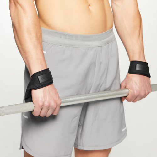 Cotton Weightlifting Straps - Pair (2) Black