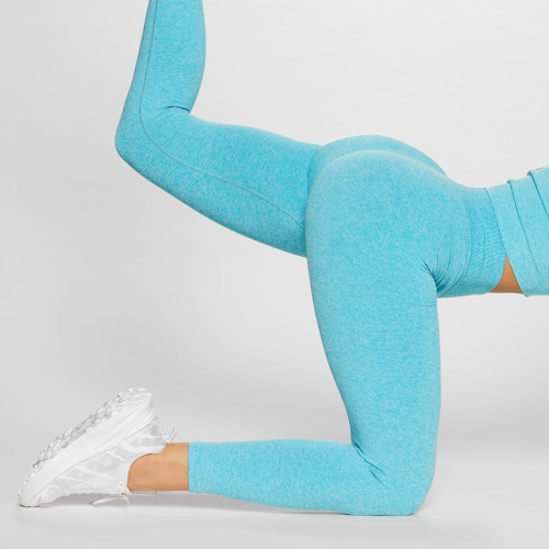 Legging Crush Get Physical Ribbed - Blue
