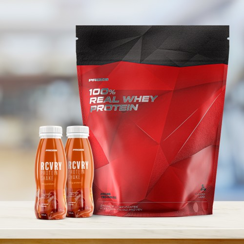 100% Real Whey Protein 1000 g + Free 2 x RCVRY Protein Shake 330 ml
