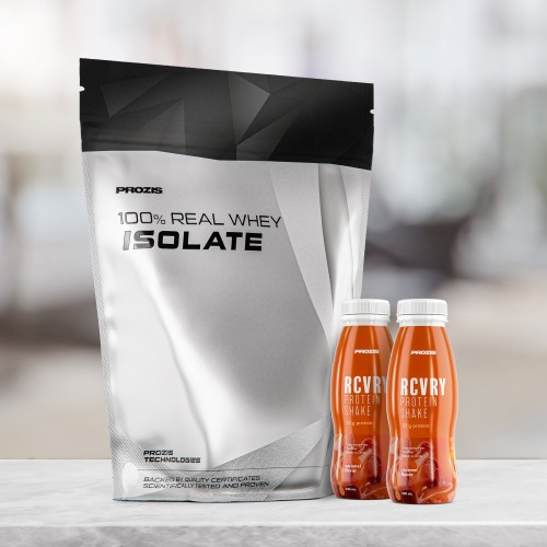 100% Real Whey Isolate 1000 g + Free 2 x RCVRY Protein Shake 330 ml