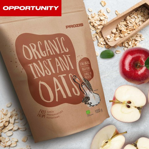 Organic Instant Oats 1000 g Opportunity