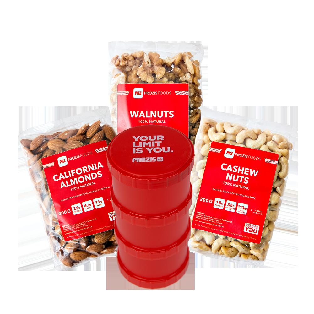 California Almonds 200g+ Walnuts 200g+ Cashew Nuts 200g ...