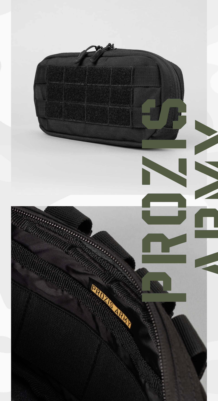 Bolso táctico Army Medium Horizontal Stealth Black