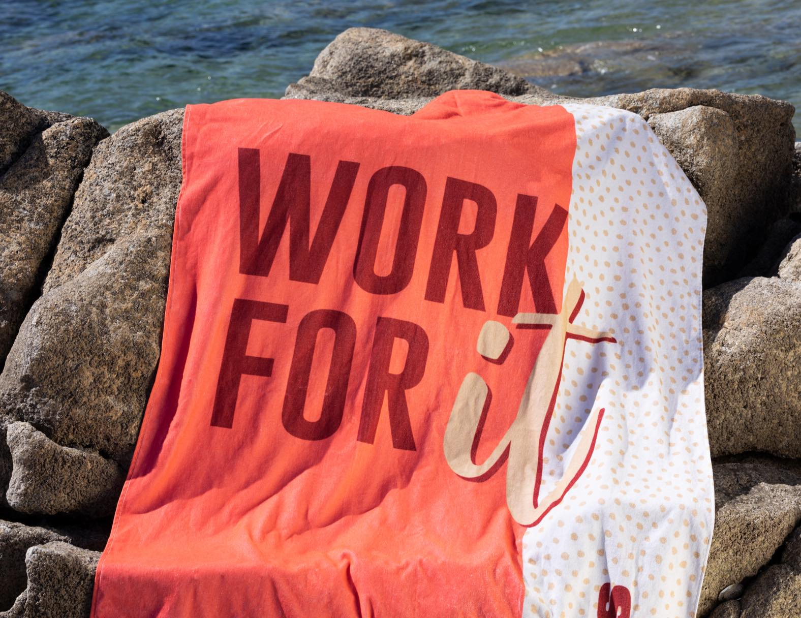 Giant Beach Towel - Work for It