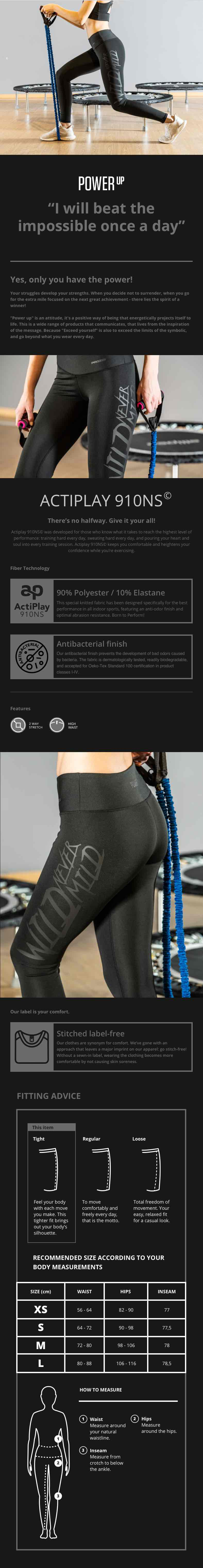 Power Up Leggings - Wild Never Mild - Description
