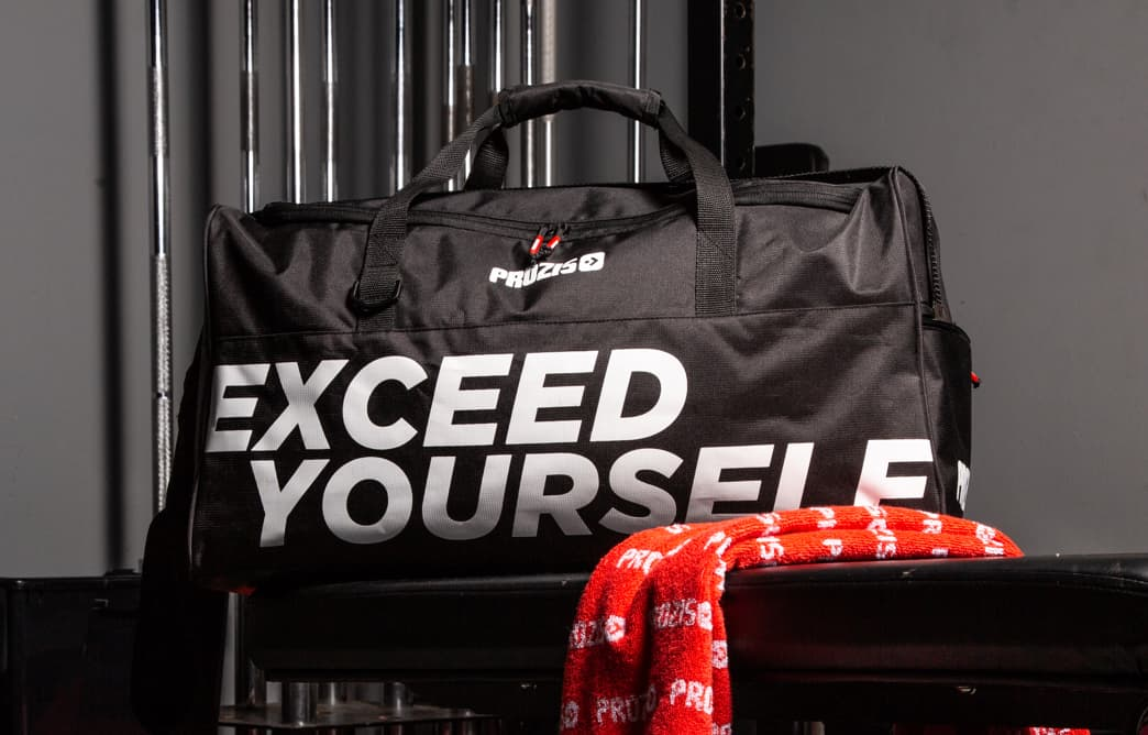 79fe8a32f3 Exceed Yourself Black-White Gym Bag - Accessories