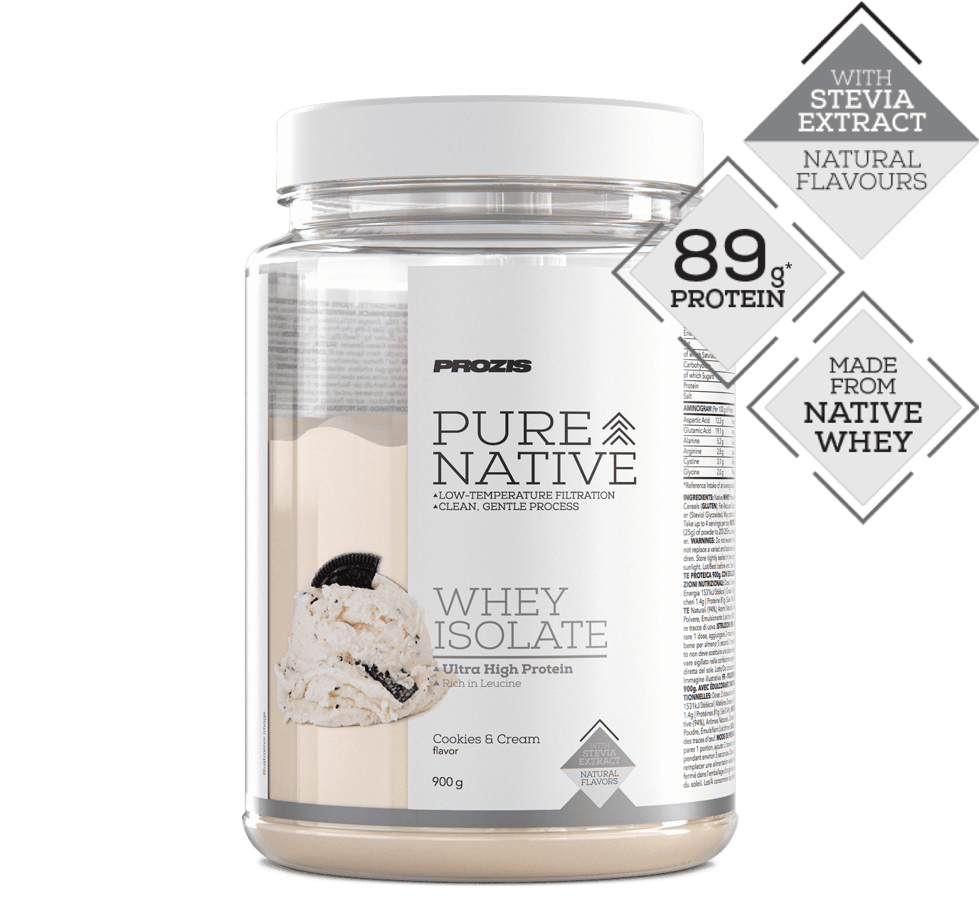 Pure Native Whey Isolate Stevia