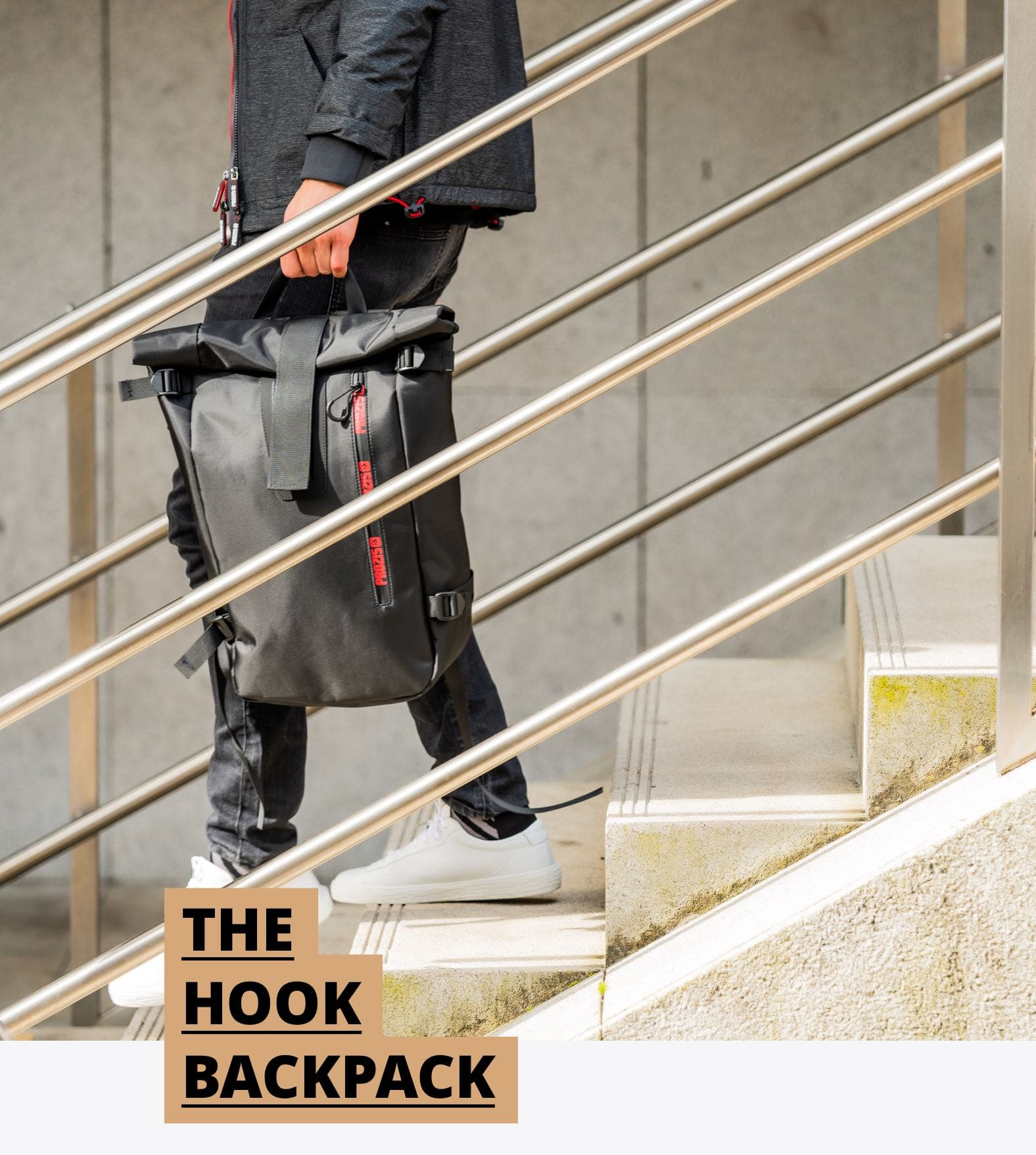 Seagull Backpack - The Hook Grey