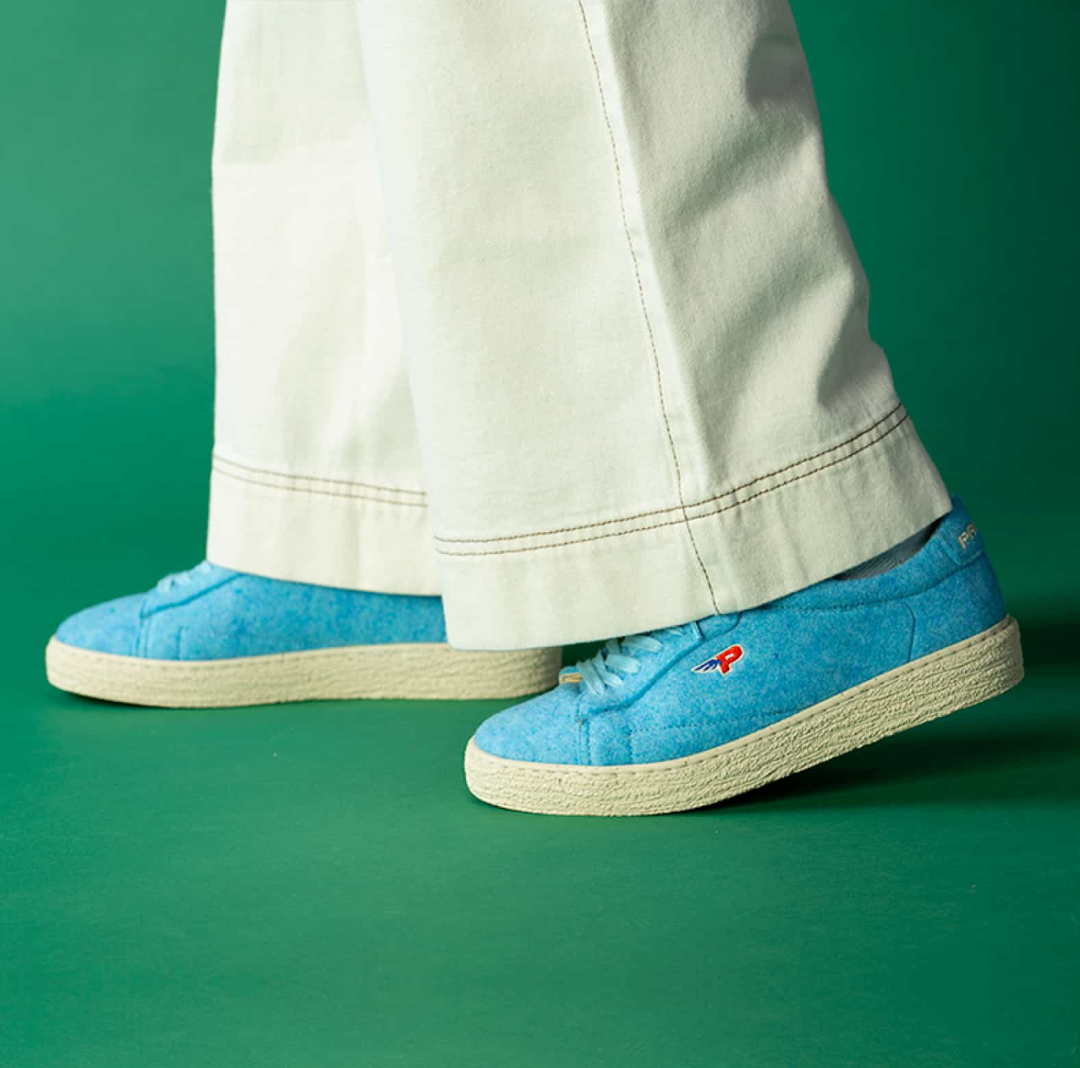 Sneakers Match Felt Baby Blue