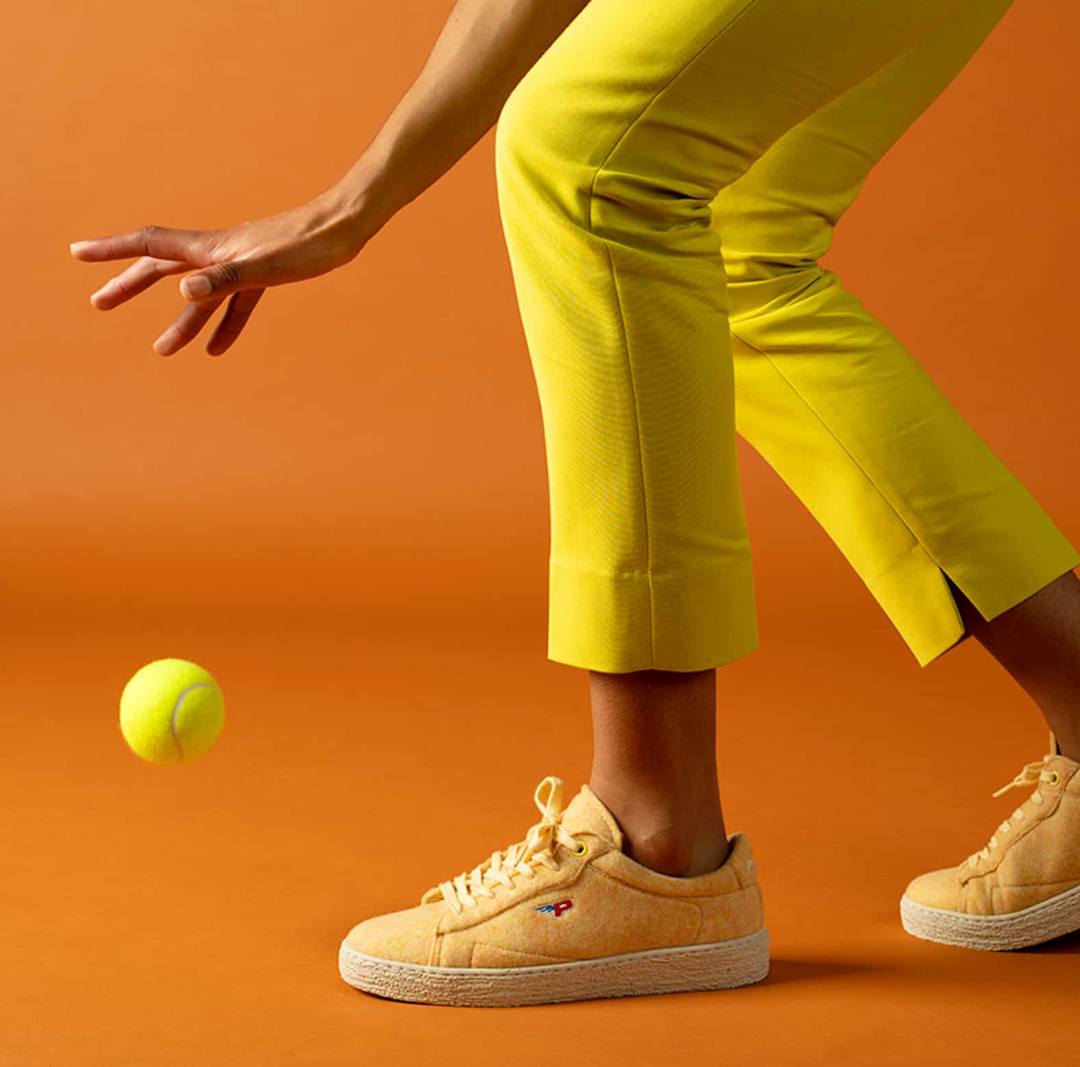 Sneakers Match Felt Mellow Yellow