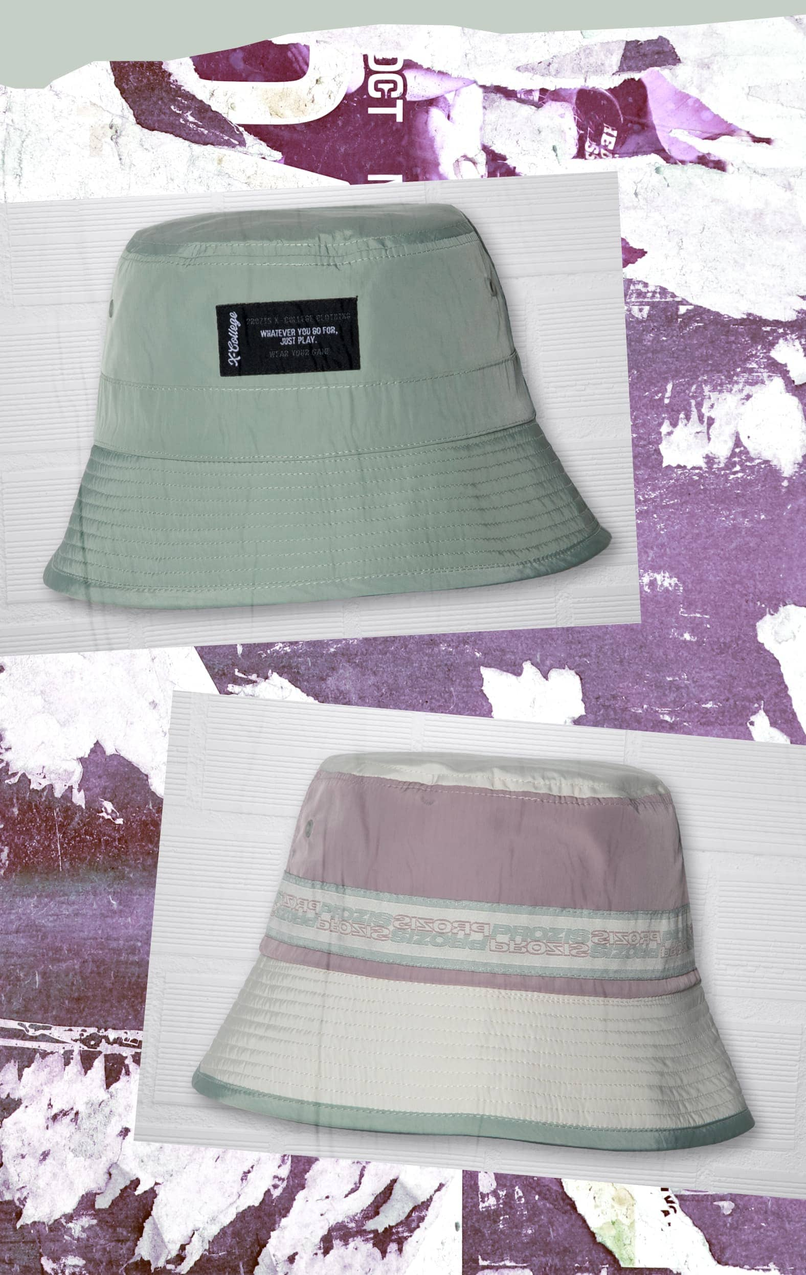 X-College Reversible Bucket Hat