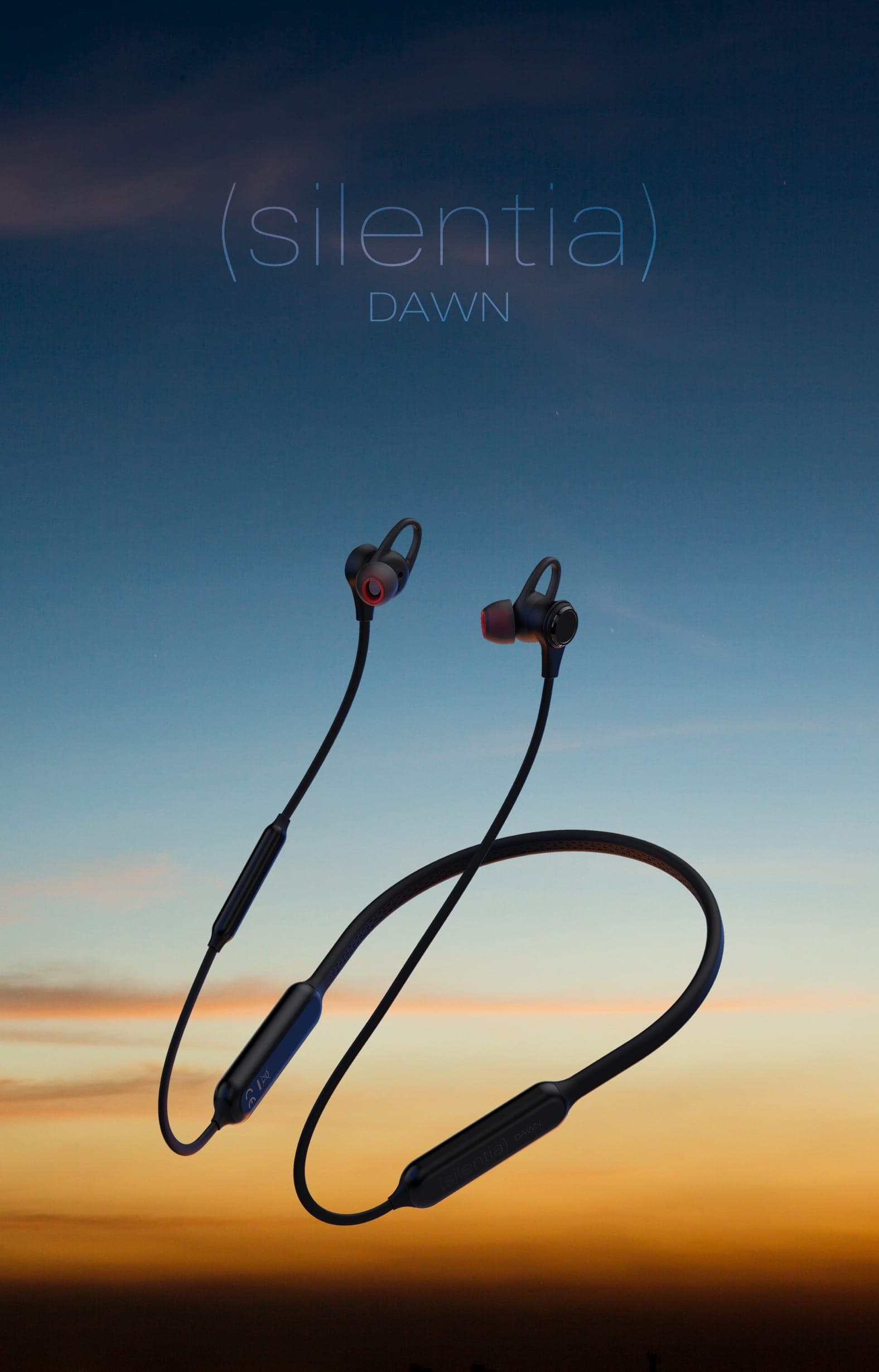 Silentia Dawn - Wireless Noise Cancelling Earphones Black
