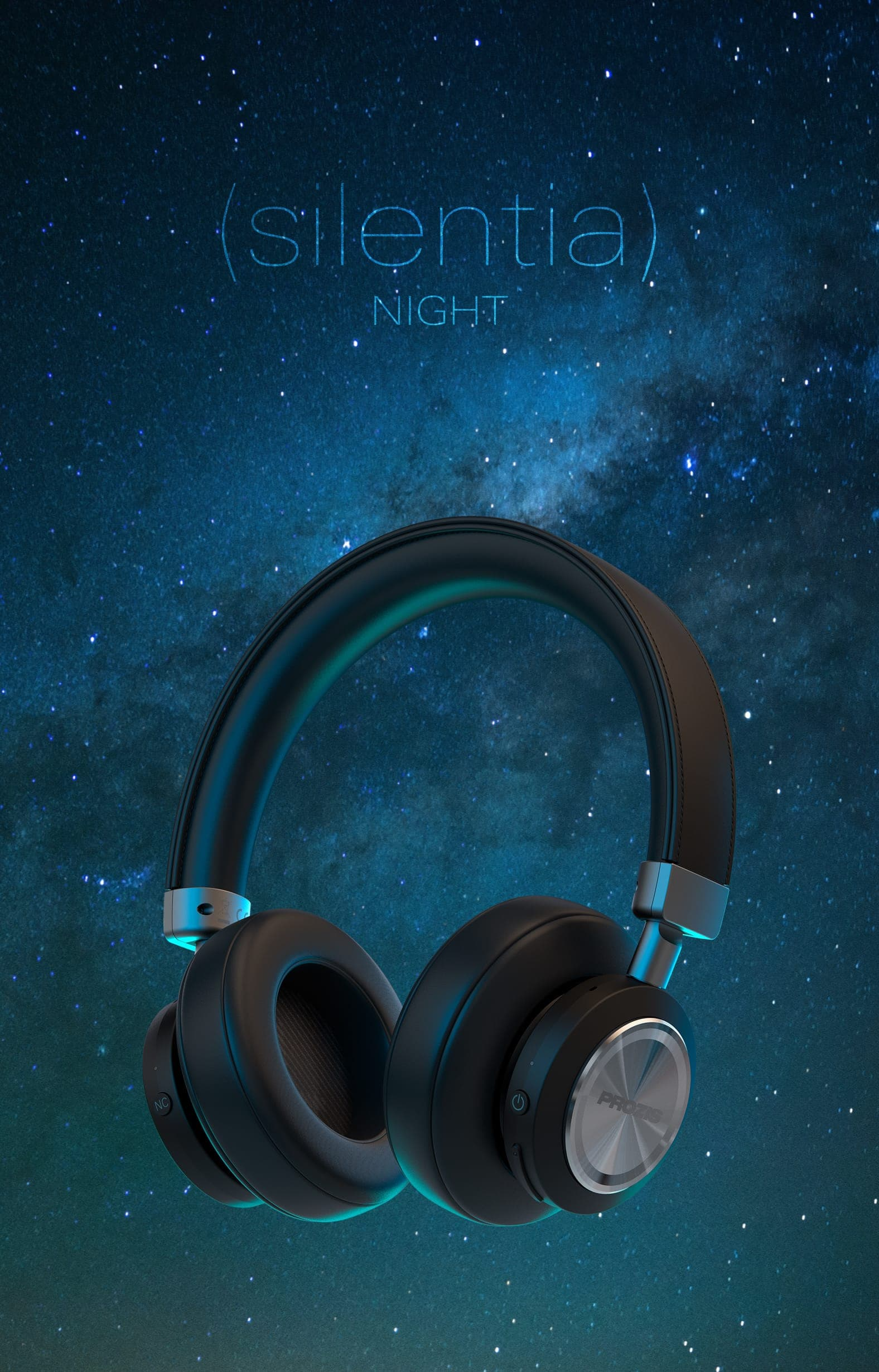 Silentia Night - Wireless Noise Cancelling Headphones
