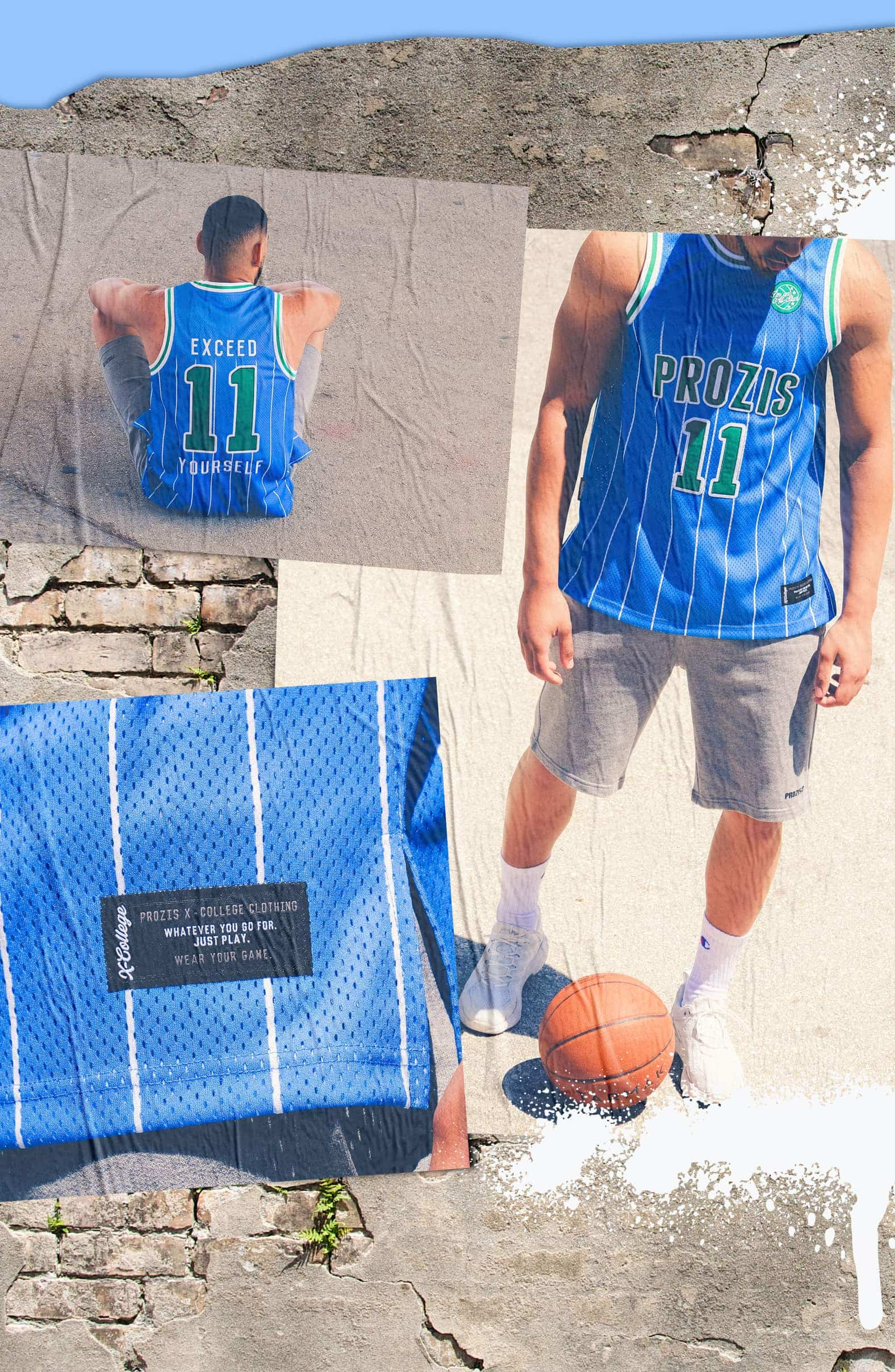 X-College Basketball Jersey