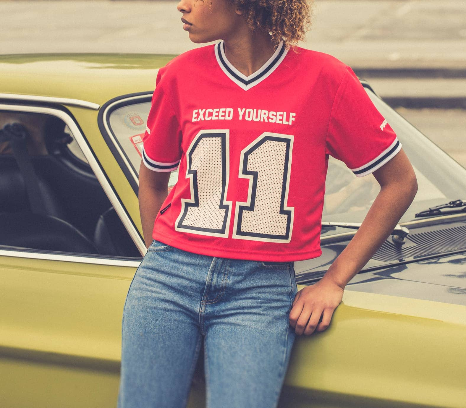 X-College Football Crop Top