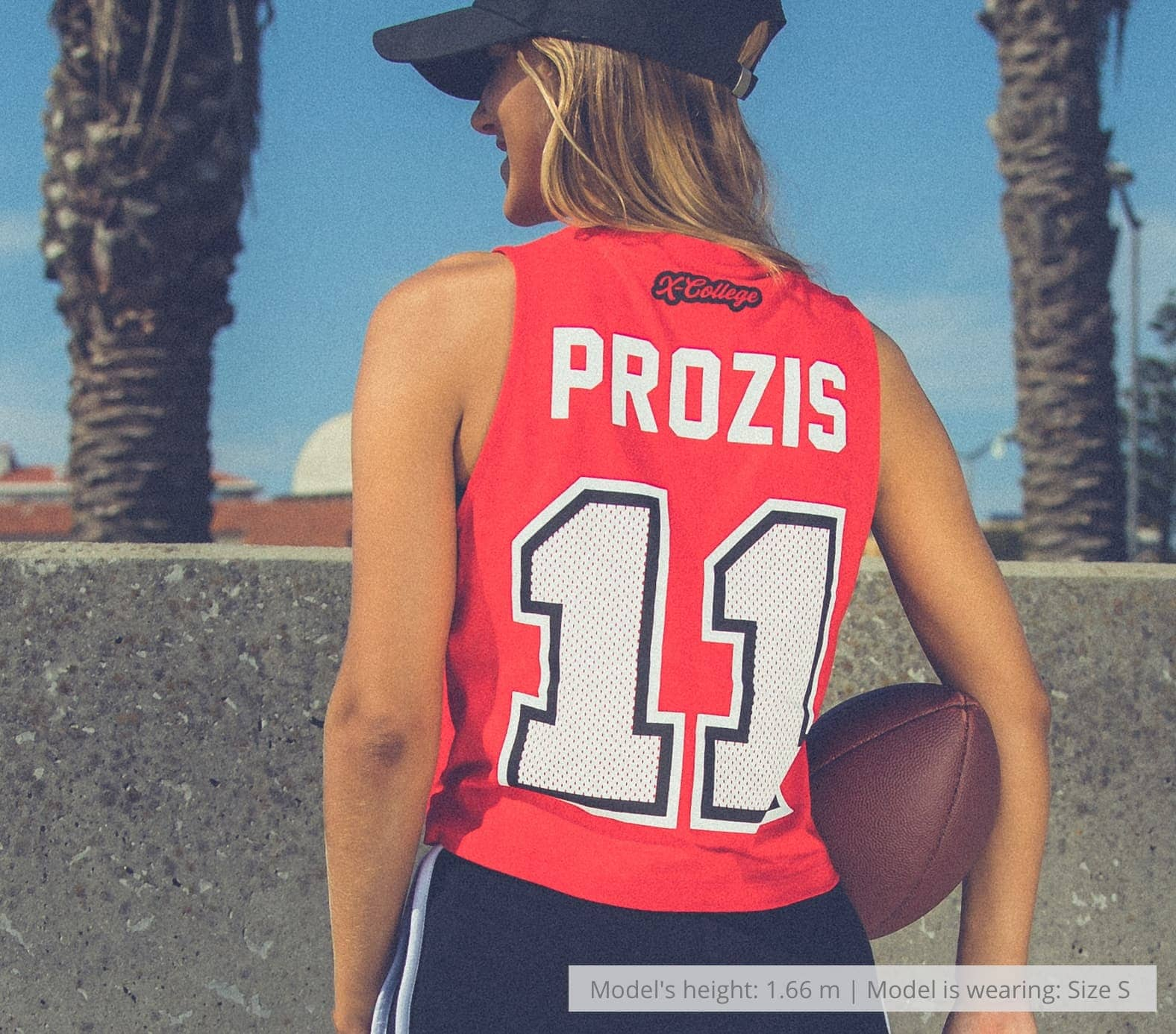 X-College Football Sleveless Crop Top