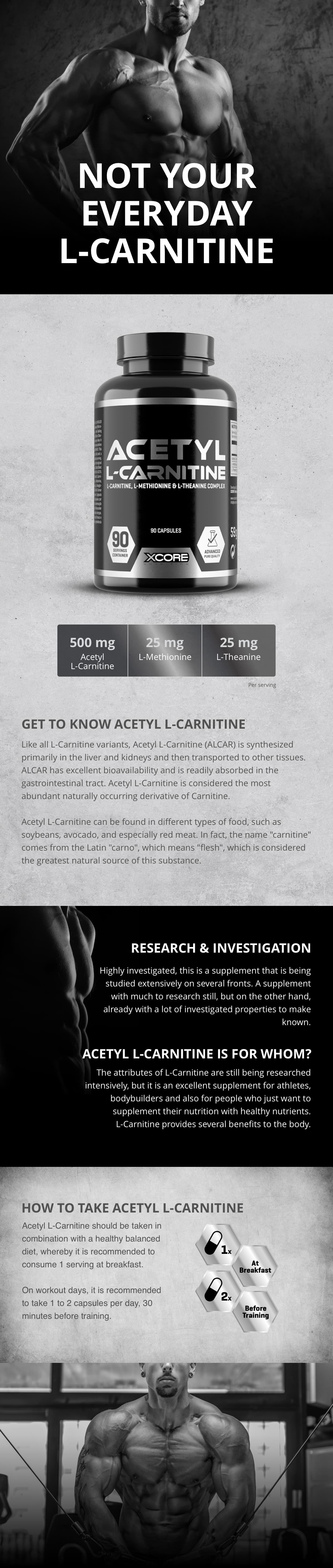 XCore -Acetyl L-Carnitine SS 90 cap