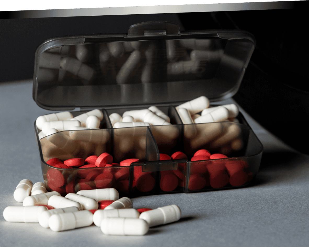 Xcore Pillbox with 5 compartments