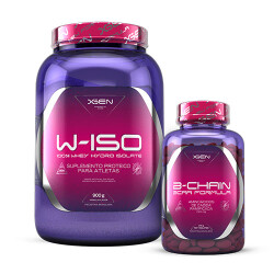 W-ISO 100% Whey Hydro Isolate 900 g + B-CHAIN BCAA 1500 mg 120 tabs
