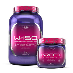 W-ISO 100% Whey Hydro Isolate 900 g + KREAT Creatine Monohydrate 300 g