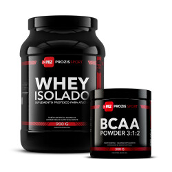 Whey Isolado 900 g + BCAA Powder 300 g