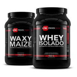 Whey Isolado 900 g + Waxy Maize 1000 g