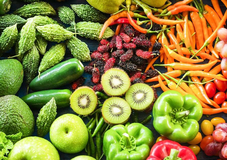 Cual es el ph de las frutas y verduras